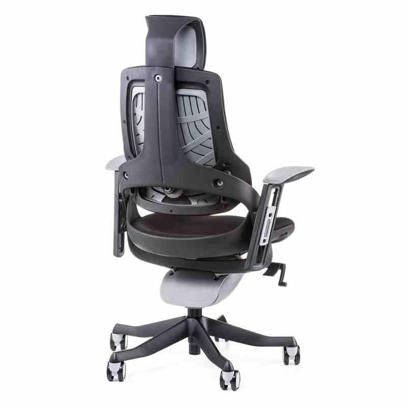 Крісло офісне Wau black fabric 4