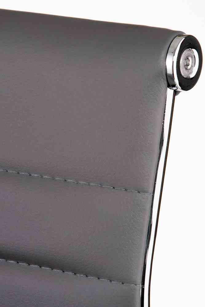 Барний стілець Bar grey plate 5