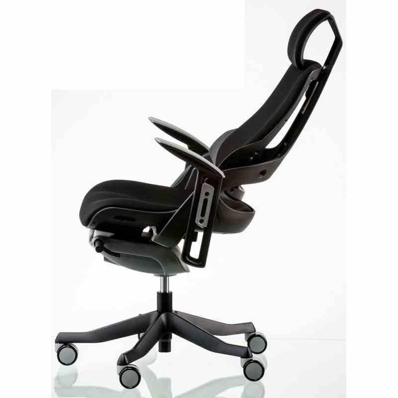 Крісло офісне Wau black fabric 5