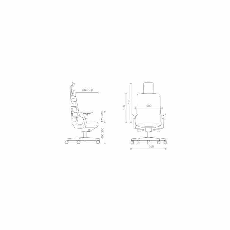 Крісло SPINELLY SLATEGREY/BLACK 18