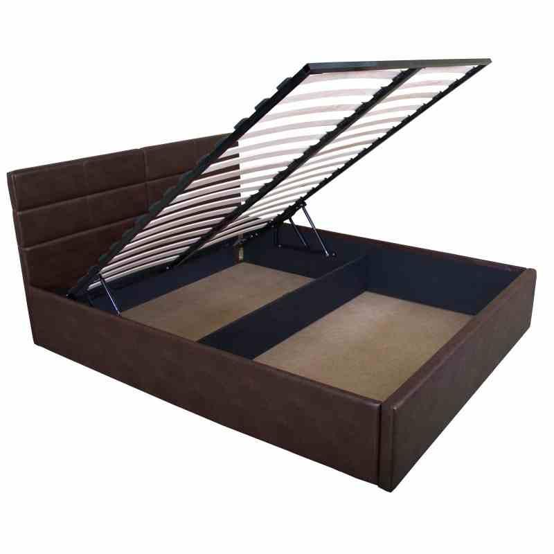 Двоспальне ліжко LAGUNA lift 1600x2000 brown 1