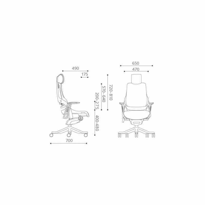 Крісло офісне Wau black fabric 12