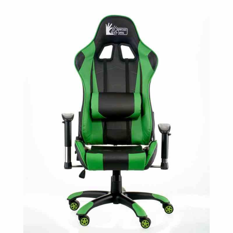 Крісло ExtremeRace black/green 7