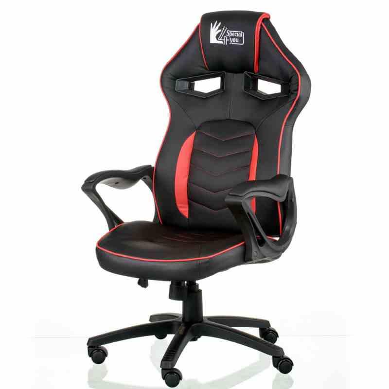 Крісло Nitro Black/Red 12