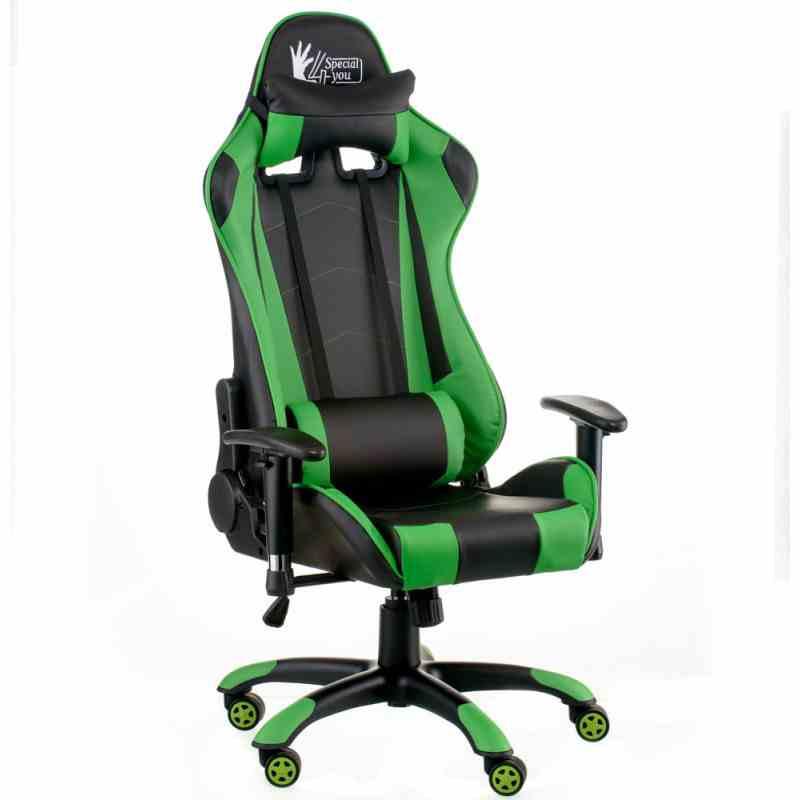 Крісло ExtremeRace black/green 4
