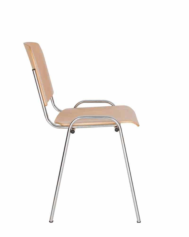 Стілець офісний ISO wood chrome 2