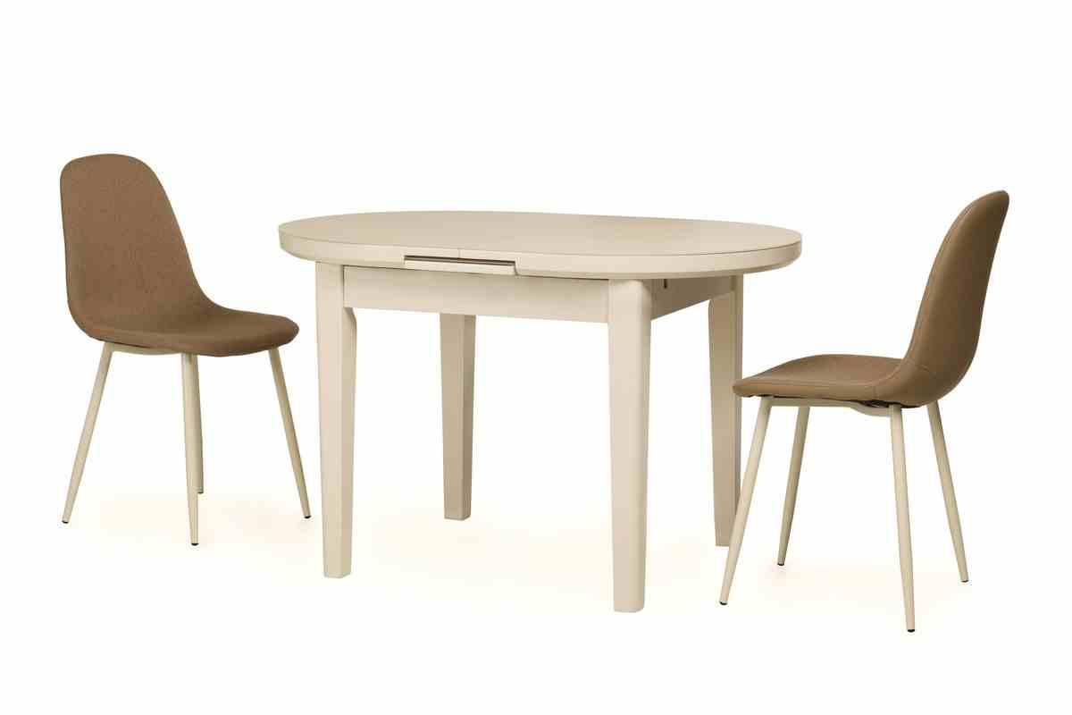 Обідній стіл TM-75 молочний 5