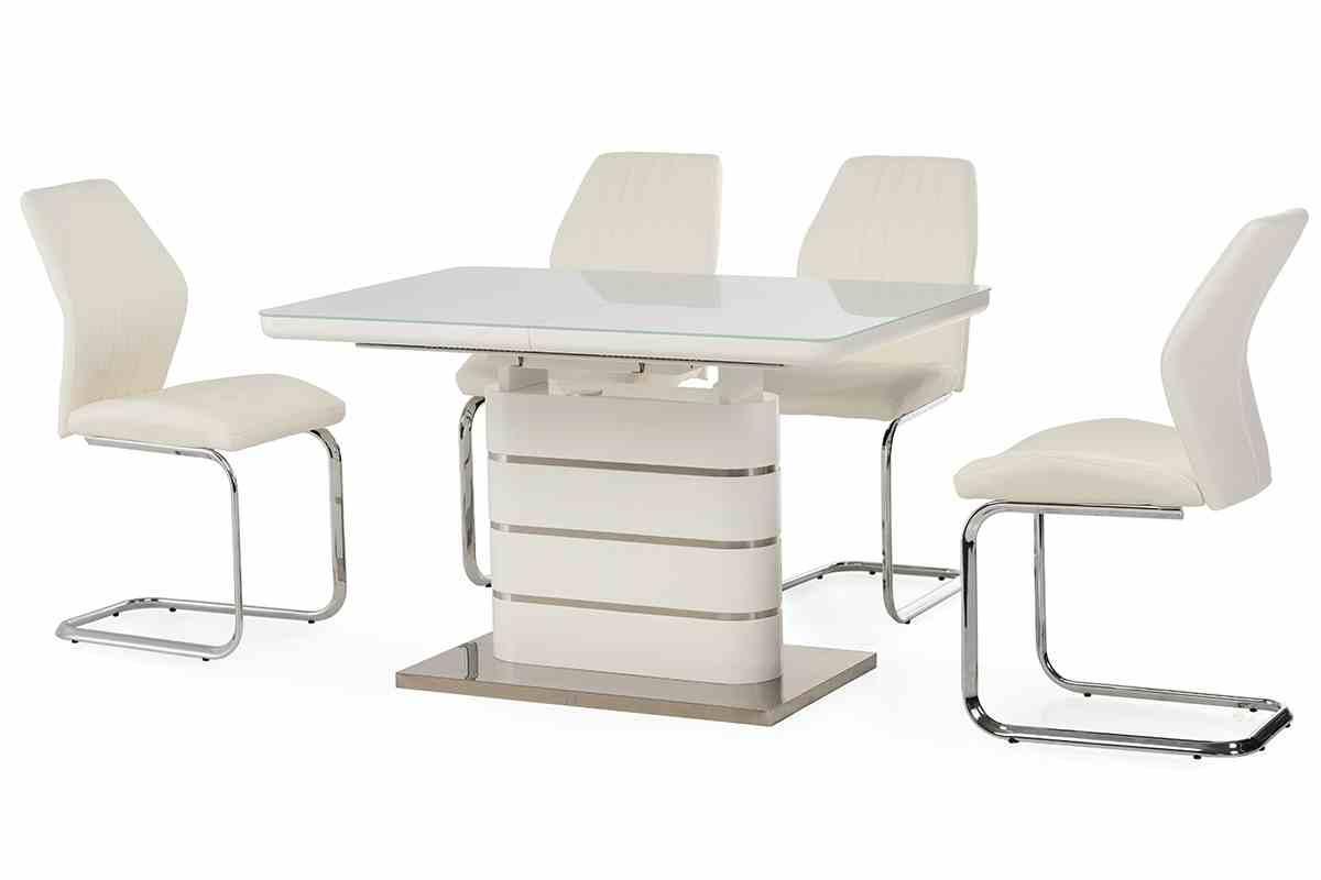 Обідній стіл TM-52-1 білий 8