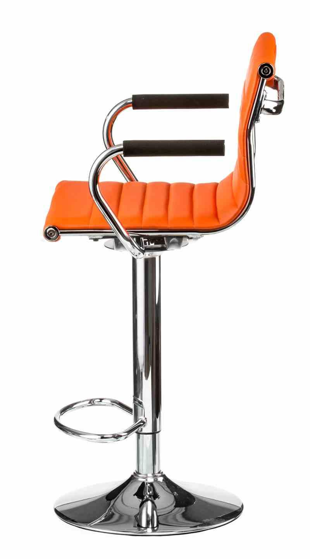 Барний стілець Bar orangе platе 1