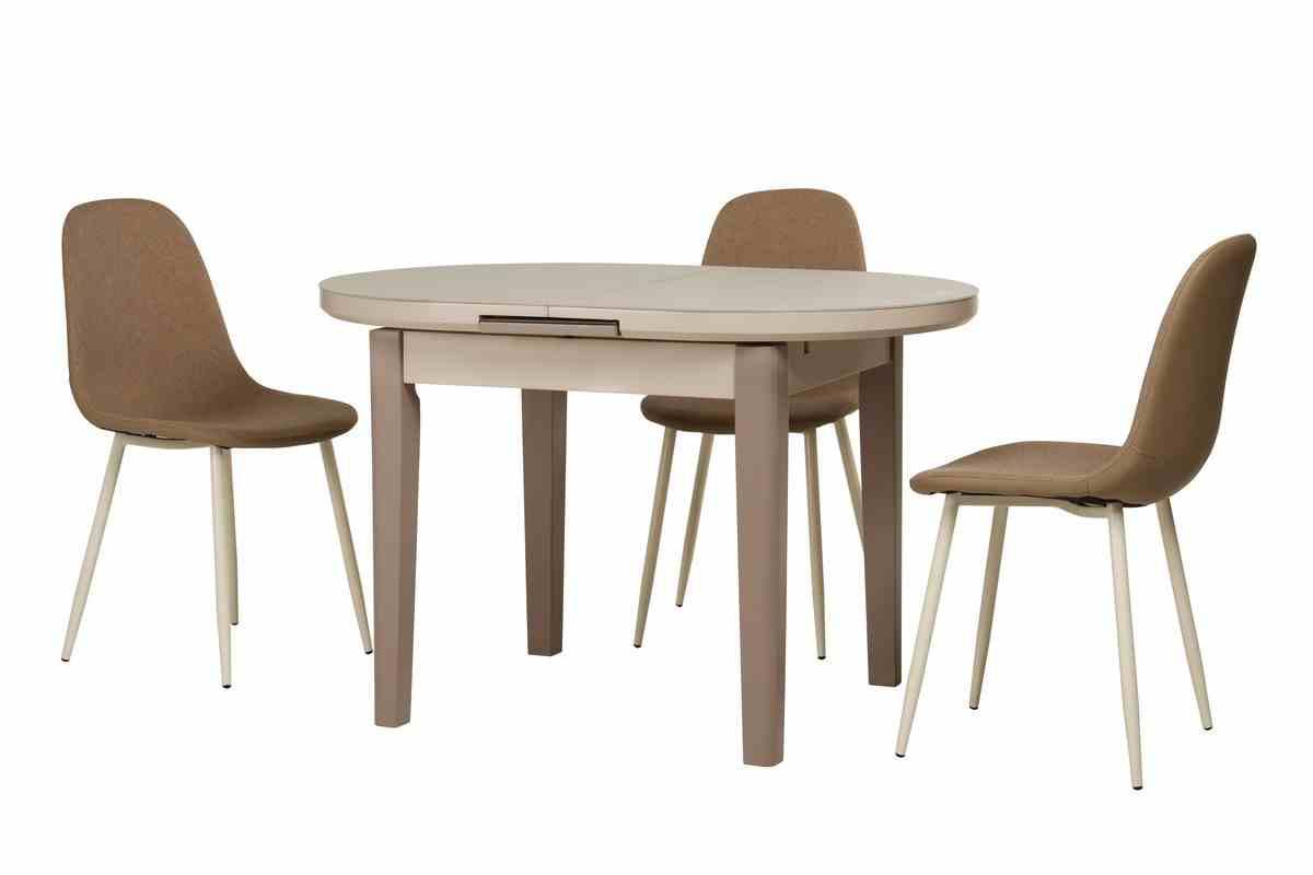 Обідній стіл TM-75 капучино-латте 8