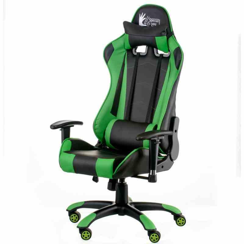 Крісло ExtremeRace black/green 19