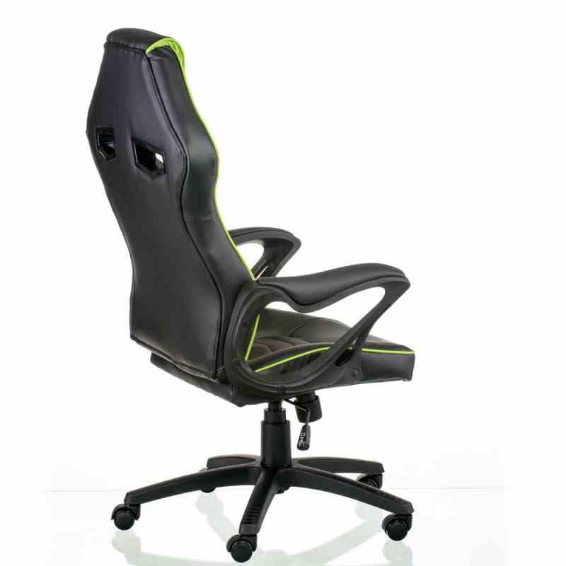 Крісло Nitro Black/Green 3
