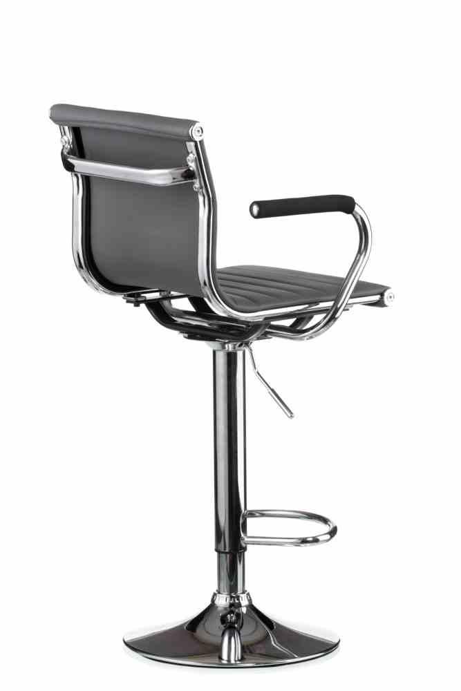 Барний стілець Bar grey plate 2