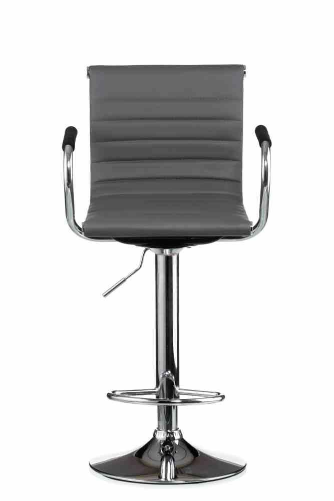 Барний стілець Bar grey plate 0