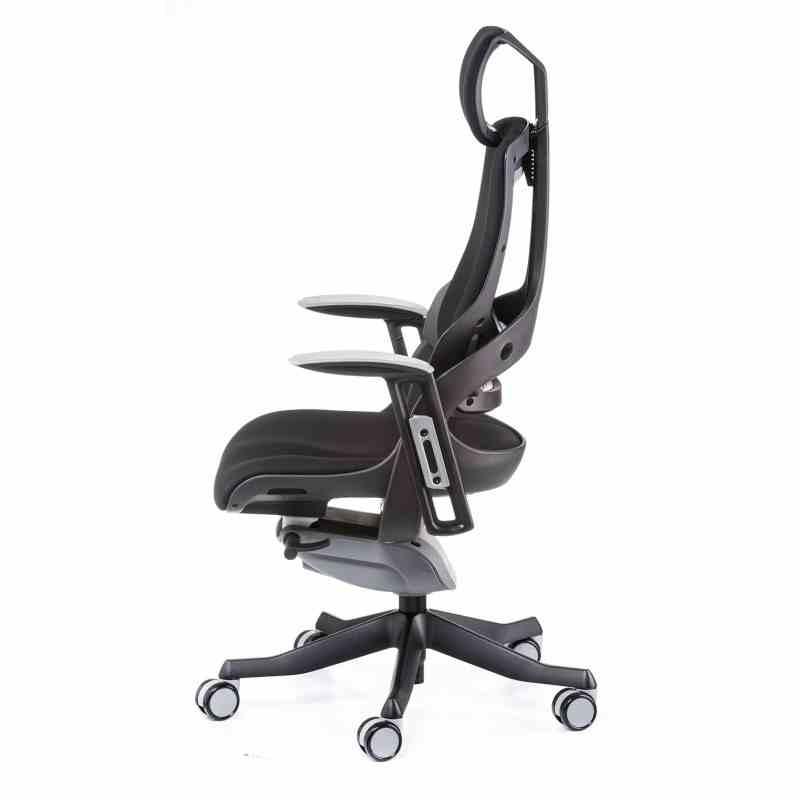 Крісло офісне Wau black fabric 2