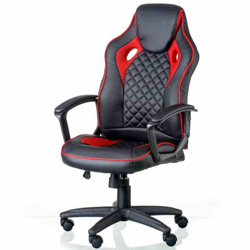 Крісло Mezzo Black/Red 10