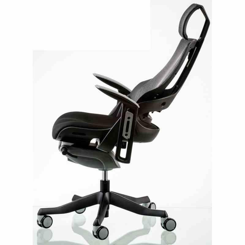 Крісло WAU BLACK FABRIC, CHARCOAL NETWORK 5