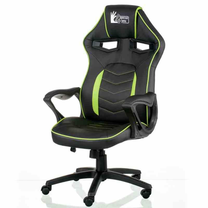 Крісло Nitro Black/Green 10
