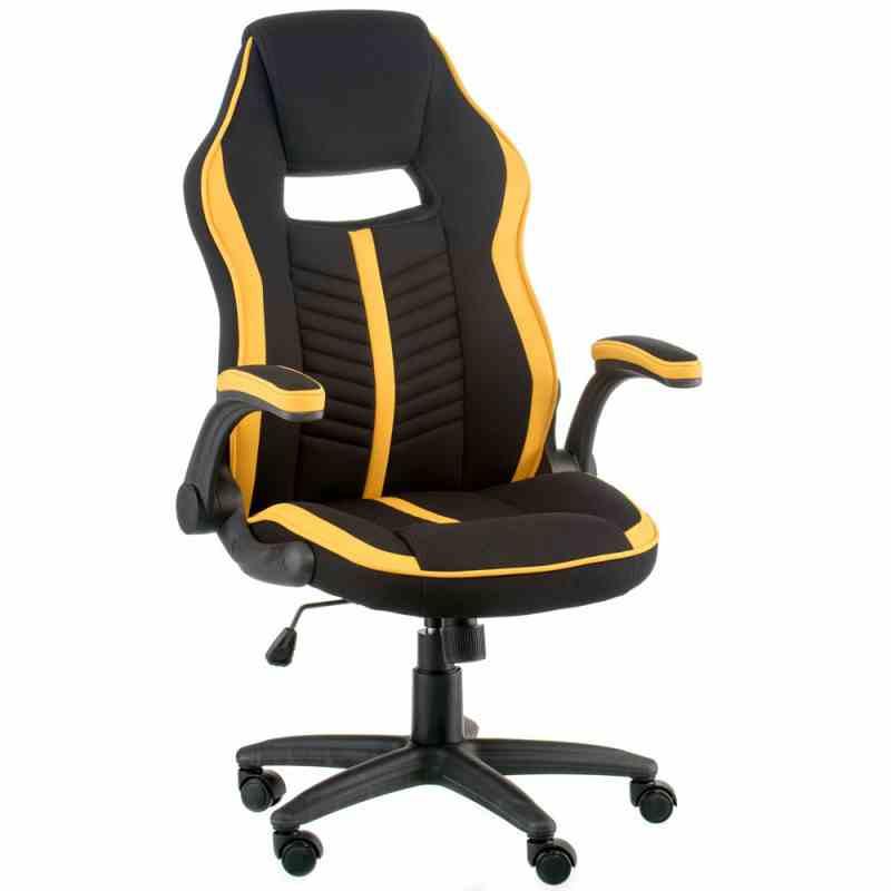 Крісло Prime black/yellow 4