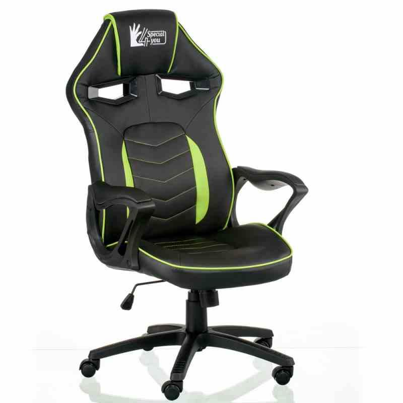 Крісло Nitro Black/Green 4