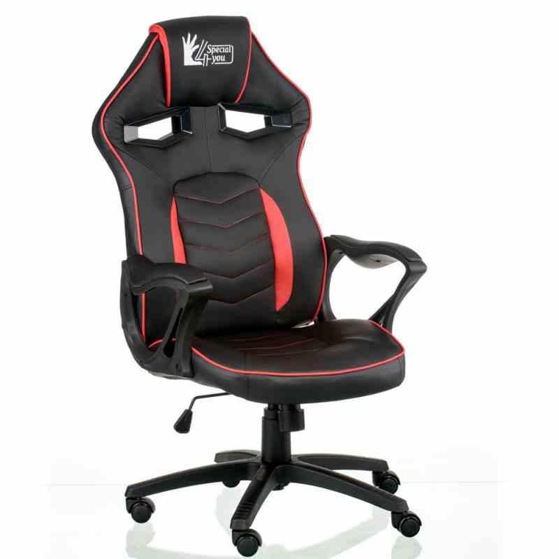 Крісло Nitro Black/Red 4