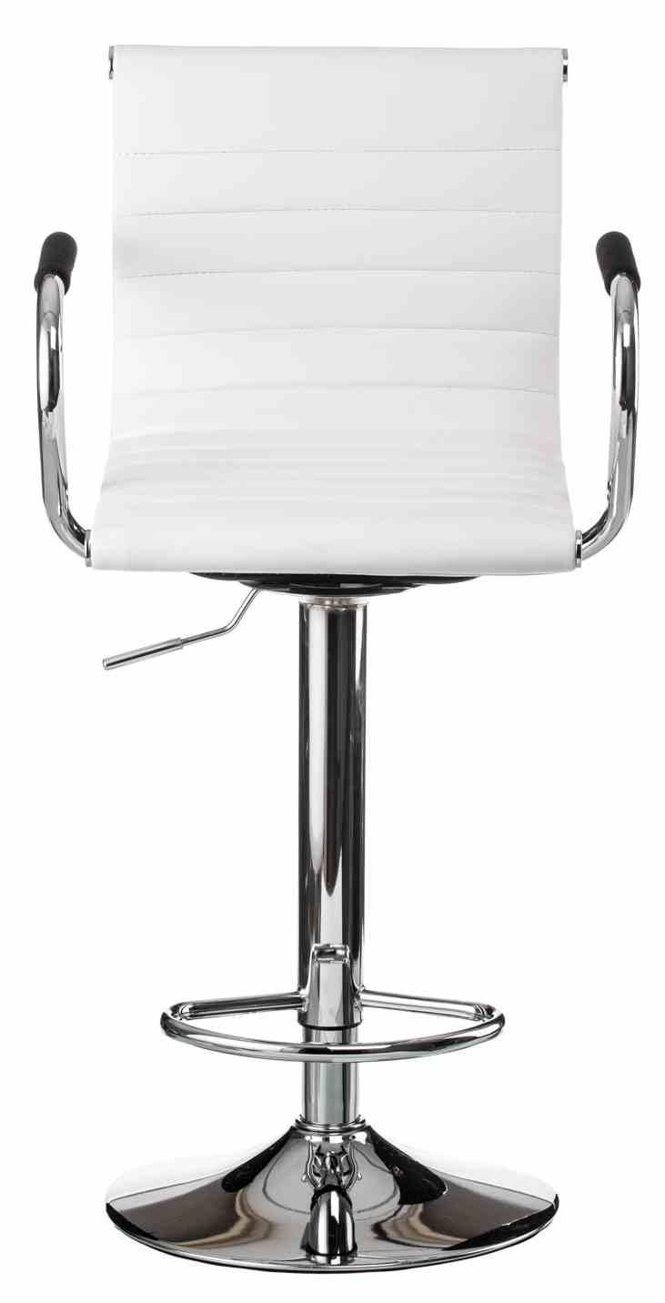 Барний стілець Bar whitе platе 4