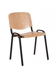 Стілець офісний ISO wood black