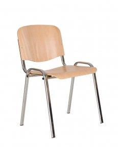 Стілець офісний ISO wood chrome