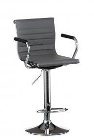 Барний стілець Bar grey plate